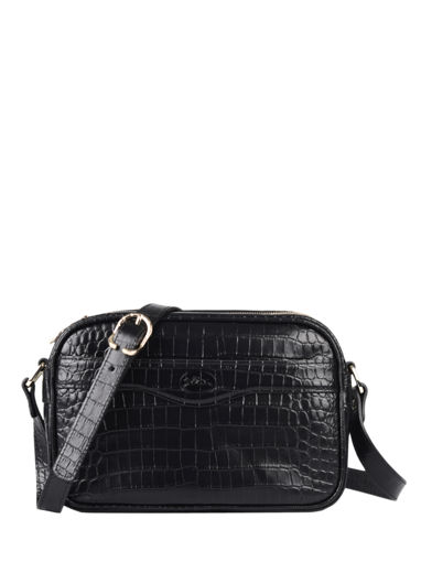 Longchamp Longchamp 1980 croco Messenger bag Black