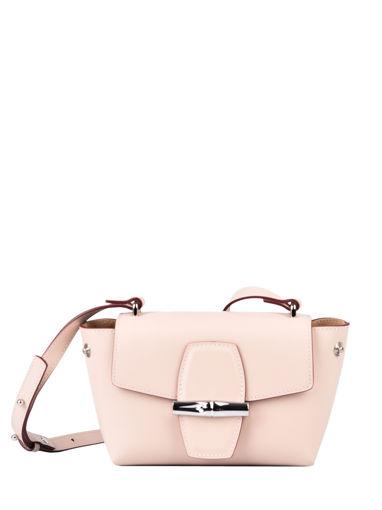 Longchamp Roseau box Sacs porté travers Rose