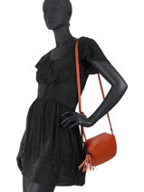 Shoulder Bag  Leather Milano Orange CA20064N-vue-porte