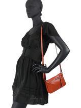 Shoulder Bag  Leather Milano Orange G1421N-vue-porte