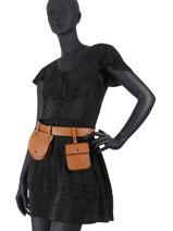 Leather Caviar Belt Bag Milano Brown CA20091N-vue-porte