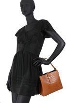 Leather Shoulder Bag Croco Milano Red croco CR19113N-vue-porte