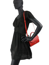 Sac Bandouliere Smooth Even Cuir Lancaster Rouge smooth even 16-vue-porte