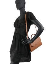Shoulder Bag Smooth Even Lancaster Brown smooth even 17-vue-porte