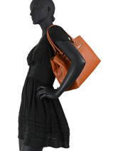 Handbag Classic David jones Brown classic CM5927-vue-porte
