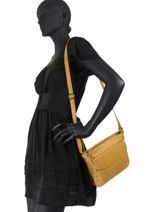 Sac Bandouliere Just Jackie Leather Burkely Yellow just jackie 84-vue-porte