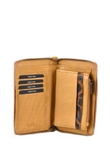 Leather Just Jackie Wallet Burkely Yellow just jackie 84-vue-porte