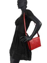 Crossbody Bag Caviar Leather Milano Red CA20092-vue-porte