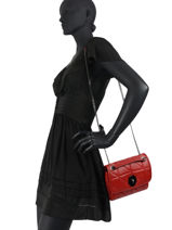 Crossbody Bag Leather Milano Red CI20091-vue-porte