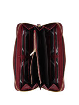Wallet Leather Etrier Red tradition EHER91-vue-porte