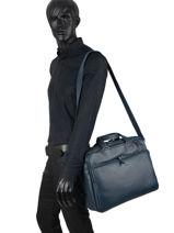 Leather Foulonné Briefcase/backpack Hybrid Etrier foulonne EFOU02-vue-porte