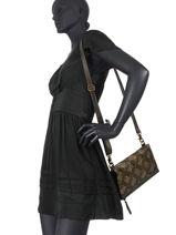 Leather Heritage Crossbody Bag Biba Green heritage JEN1L-vue-porte