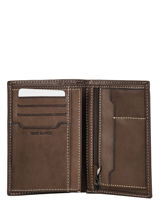 Wallet Leather Serge blanco Brown catane CAT21019-vue-porte