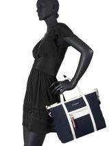 Th Nylon Shoulder Bag Tommy hilfiger Blue th nylon AW08523-vue-porte
