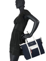 Sac Cabas Th Nylon Tommy hilfiger Bleu th nylon AW08523-vue-porte