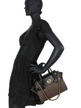 Leather Carmen Top-handle Bag Michael kors Brown carmen F0GNMS5B-vue-porte