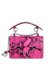 Leather Karl Seven Python Crossbody Bag Karl lagerfeld Pink karl seven 206W3079