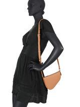 Leather Crossbody Bag City Perle Mimi Nathan baume Brown n city 2-vue-porte