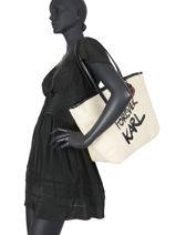 Shopping Bag Karl Forever Karl lagerfeld Beige karl forever 206W3198-vue-porte