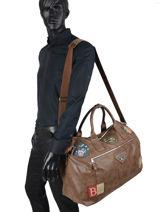 Travel Bag Palatino Serge blanco Brown palatino FRG14019-vue-porte