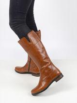 Bottes in leather-TAMARIS-vue-porte
