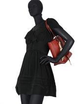 Shoulder Bag Saffiano Miniprix Red saffiano M9389-vue-porte