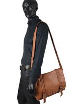 Leather Messenger Bag Arthur Arthur et aston Brown arthur 15-vue-porte