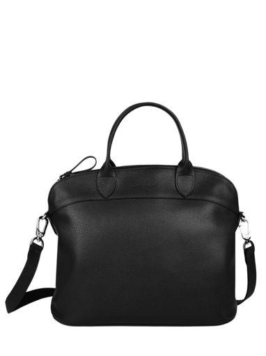 Longchamp Le foulonné Handbag Black