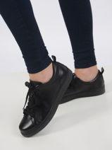 Sneakers in leather-TAMARIS-vue-porte