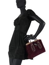 Longchamp Roseau lacet Sacs porté main Rouge-vue-porte