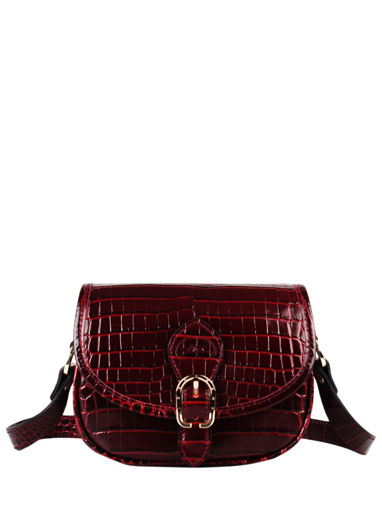 Longchamp Longchamp 1980 croco Messenger bag Red