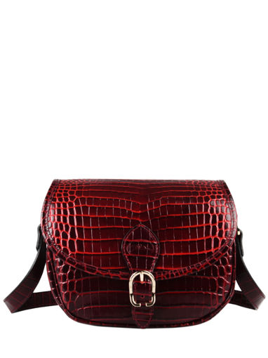 Longchamp Longchamp 1980 croco Sacs porté travers Rouge