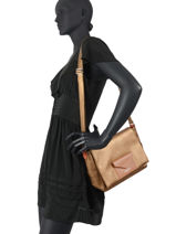 Shoulder Bag Maya Lancaster Brown maya 34-vue-porte