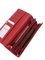 Leather Confort Wallet Hexagona Red confort 467779-vue-porte