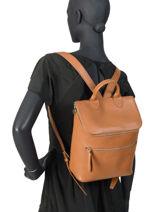 Longchamp Le foulonné Backpack Brown-vue-porte