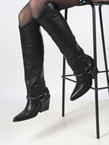 Boots in leather-BRONX-vue-porte