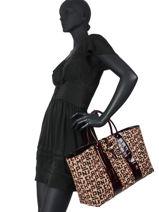 Longchamp Roseau jacquard lgp Handbag-vue-porte