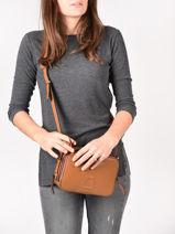 Shoulder Bag Balade Leather Etrier Brown balade EBAL01-vue-porte