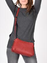 Crossbody Bag Balade Leather Etrier Red balade EBAL13-vue-porte