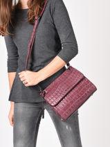 Leather Darwin Crossbody Bag Etrier Red darwin EDAR10-vue-porte