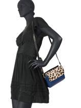 Leather Leopard Crossbody Bag Augre f Blue leopard L-vue-porte