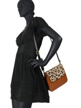 Leather Leopard Crossbody Bag Augre f Brown leopard L-vue-porte