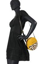Leather Leopard Crossbody Bag Augre f Yellow leopard L-vue-porte