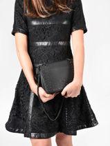 Small Leather Delicate Rock Crossbody Bag Etrier Black delicate rock EDER02-vue-porte