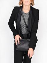 Shoulder Bag Vintage Leather Nat et nin Black vintage NAEL-vue-porte