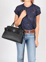 Handbag Carmen Michael kors Black carmen S0SNMS3L-vue-porte