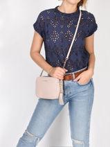 Shoulder Bag Ginny Leather Michael kors Pink jetset F7GGNM8L-vue-porte