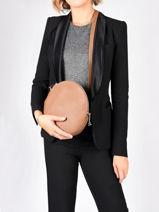 Leather Dora Crossbody Bag Nathan baume Brown nathan 31-vue-porte