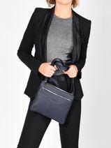 Leather Polo Crossbody Bag Nathan baume Blue n city 7-vue-porte