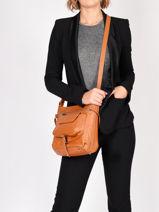 Shoulder Bag Soft Vintage Nova Leather Lancaster Brown soft vintage nova 5761-vue-porte